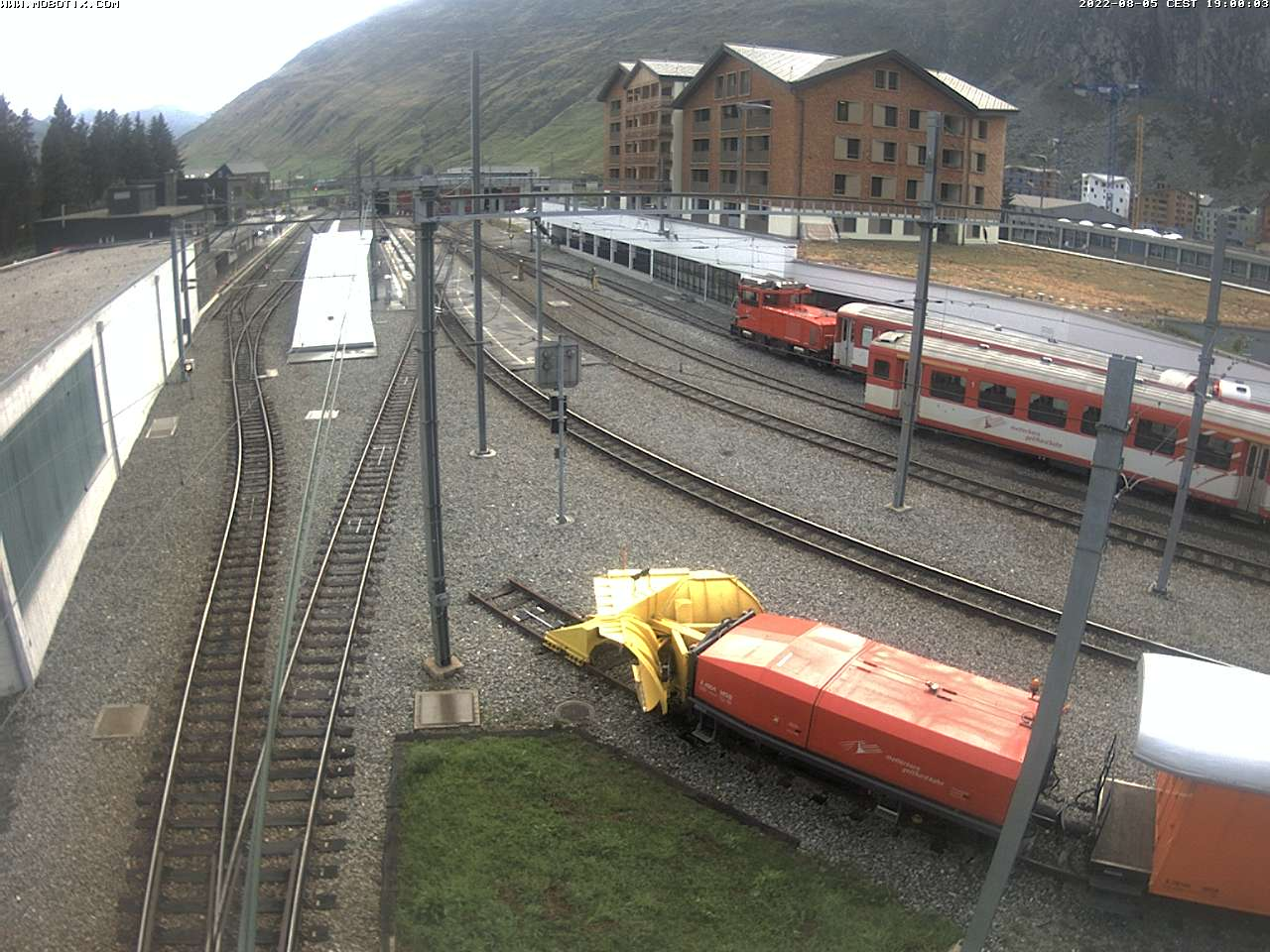 Webcam MGB Bahnhof Andermatt